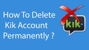 Deactivate Kik Account