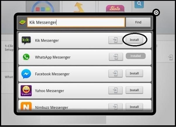 Install Kik Messenger Using BlueStacks